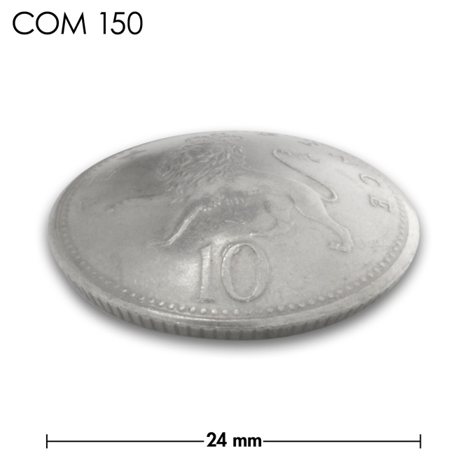 コンチョ/イギリス/10ペンス/ライオン/銀色/24mm [10%OFF]
