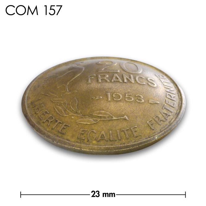 コンチョ/フランス/20フラン/にわとり/真鍮色/23mm [ポイント40倍]