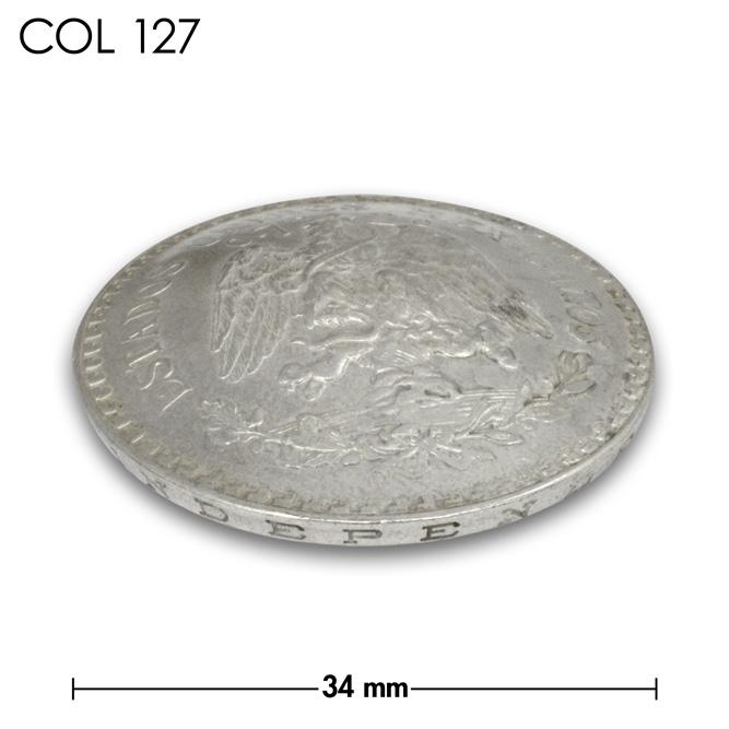 コンチョ/メキシコ/1ペソ銀貨/ワシ/銀色/34mm [ポイント40倍]