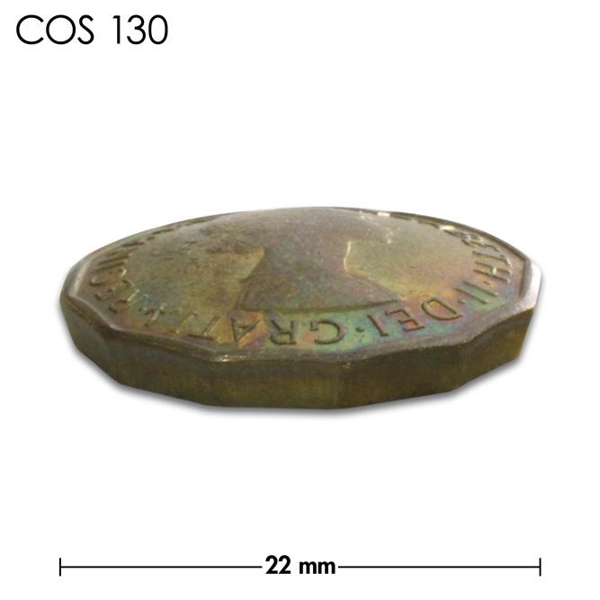 コンチョ/イギリス/3ペンス/エリザベス女王初期/真鍮色/22mm [ポイント40倍]