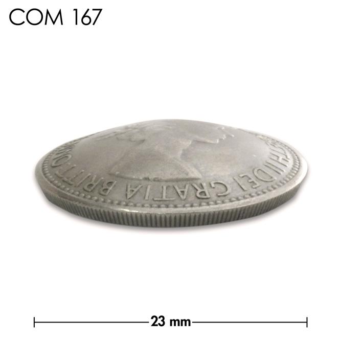 コンチョ/イギリス/1シリング/エリザベス女王初期/銀色/23mm [ポイント40倍]