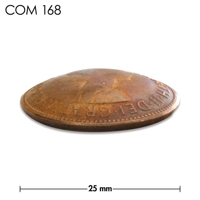 コンチョ/イギリス/ハーフペニー/エリザベス女王初期/銅色/25mm [ポイント40倍]
