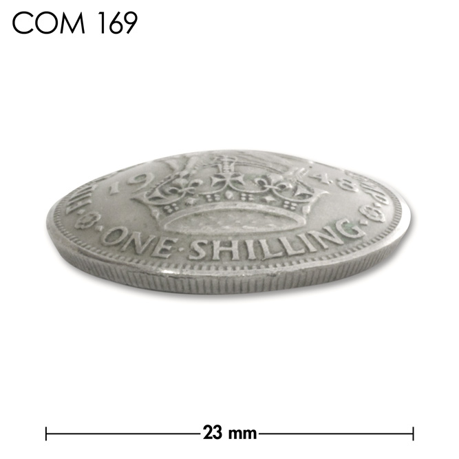 コンチョ/イングランド/1シリング/王冠とライオン/銀色/23mm [10%OFF]