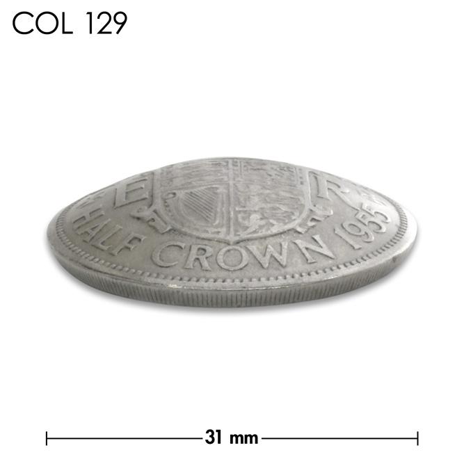 コンチョ/イギリス/ハーフクラウン/王冠と紋章/銀色/31mm [30%OFF]