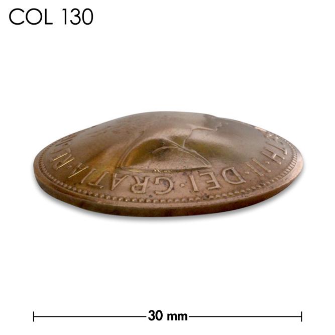 コンチョ/イギリス/1ペニー/エリザベス女王初期/銅色/30mm [10%OFF]
