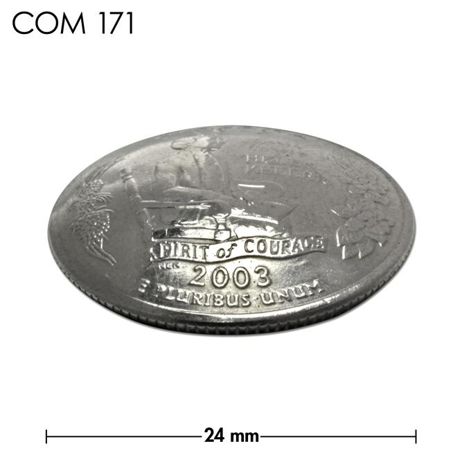 コンチョ/アメリカ/アラバマ州/25セント/ヘレン・ケラー/銀色/24mm [10%OFF]