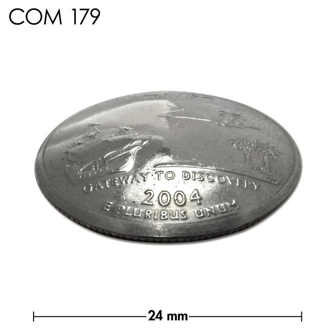コンチョ/アメリカ/フロリダ州/25セント/スペースシャトルと帆船/銀色/24mm [30%OFF]