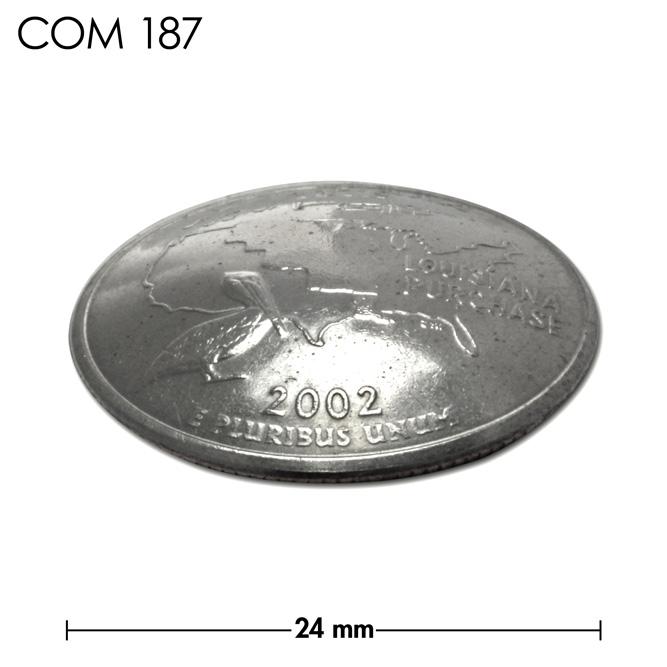 コンチョ/アメリカ/ルイジアナ州/25セント/ペリカンとトランペット/銀色/24mm [30%OFF]