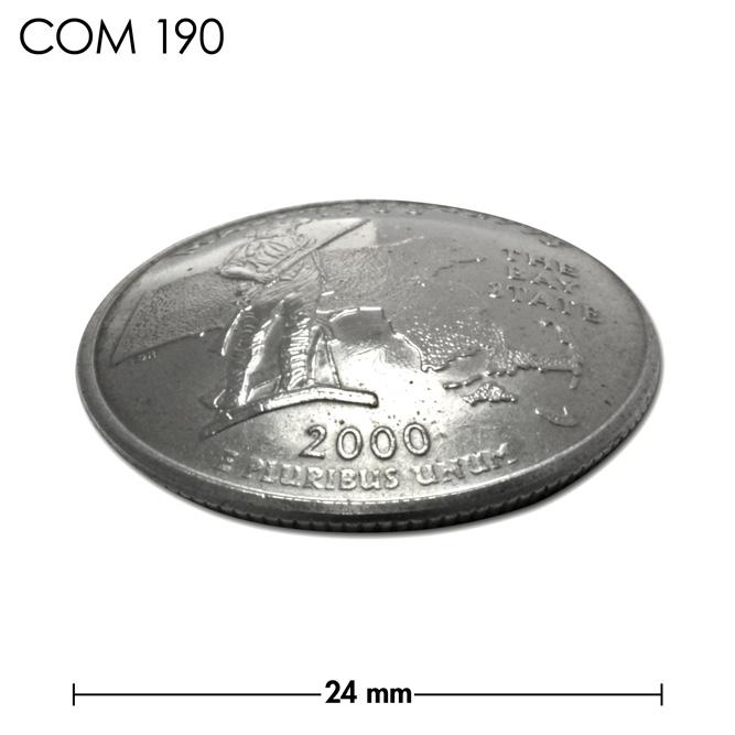 コンチョ/アメリカ/マサチューセッツ州/25セント/民兵/銀色/24mm [ポイント40倍]