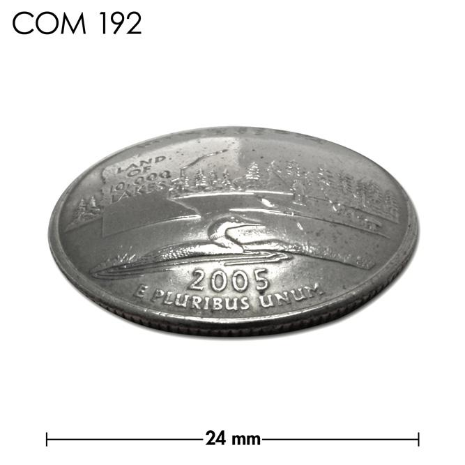 コンチョ/アメリカ/ミネソタ州/25セント/ハシグロアビ/銀色/24mm [40%OFF]