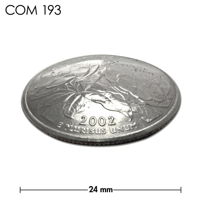 コンチョ/アメリカ/ミシシッピ州/25セント/モクレンの花/銀色/24mm [30%OFF]