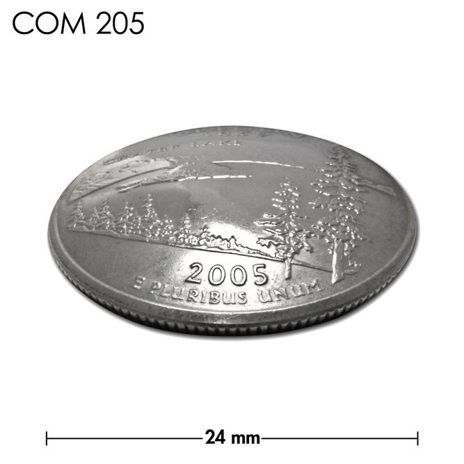 コンチョ/アメリカ/オレゴン州/25セント/クレーターレイク/銀色/24mm [10%OFF]