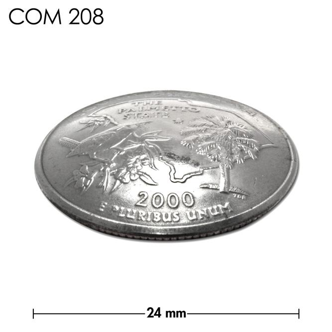 コンチョ/アメリカ/サウスカロライナ州/25セント/ヤシの木とミソサザイ/銀色/24mm [30%OFF]