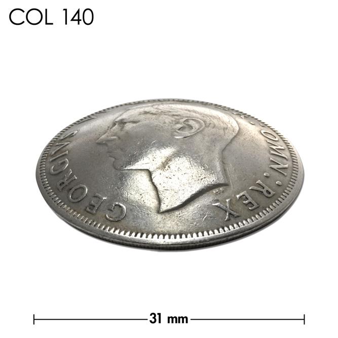 コンチョ/イギリス/ハーフクラウン/ジョージ6世/銀色/31mm [ポイント40倍]