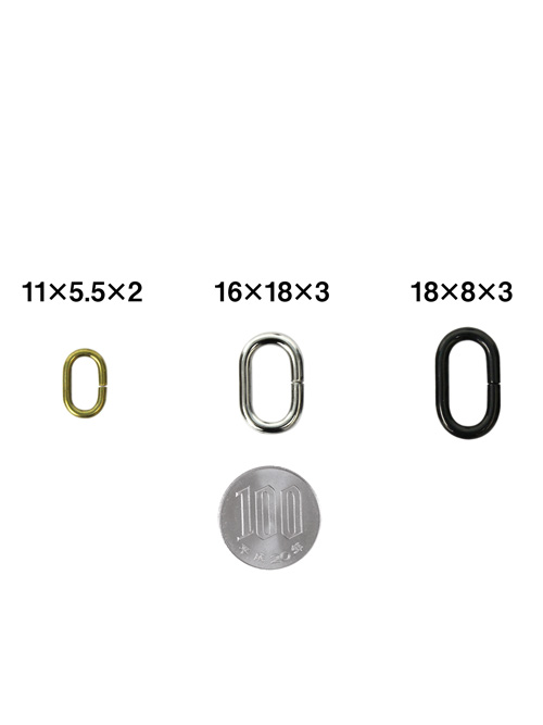 小判カン/内径11×5.5mm(線径2mm) [br] [ポイント40倍]