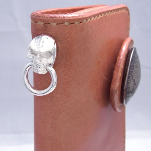 真鍮製ドロップハンドル/フラットスカル/銀メッキ [10%OFF]