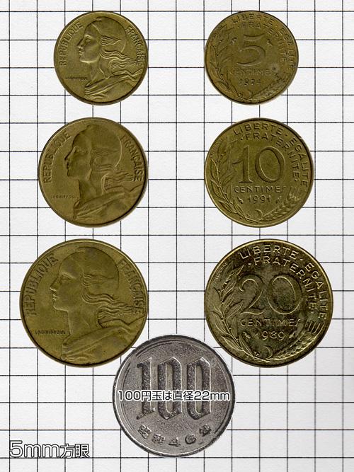 コイン/フランス/10サンチーム/20mm [ポイント40倍]