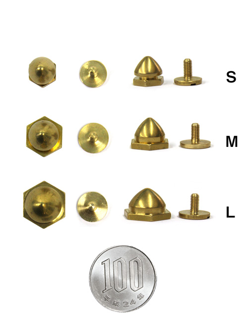 新ロンドン鋲/真鍮製/L/直径14×16mm(高さ9.5mm) [br] [ポイント40倍]