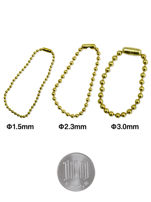ボールチェーン/直径3.0mm全長10cm [br] [ポイント40倍]