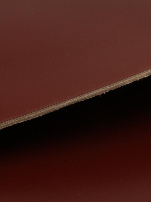 コードバン【品質保証21cm角】顔料仕上げ/赤茶 [新喜皮革]