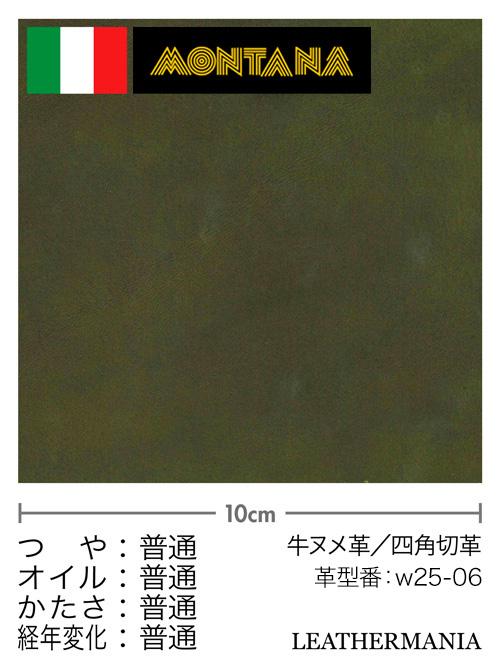 牛ヌメ革【各サイズ】リオ/緑