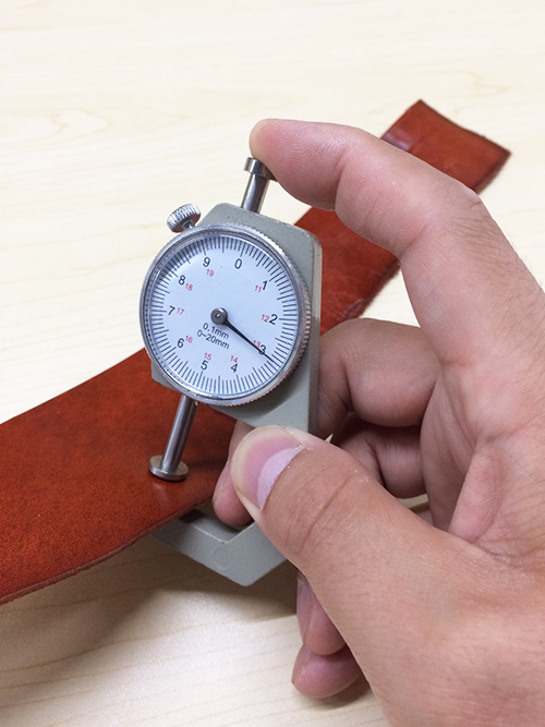 革の厚み測り/スナップノギス/グレイ [30%OFF]