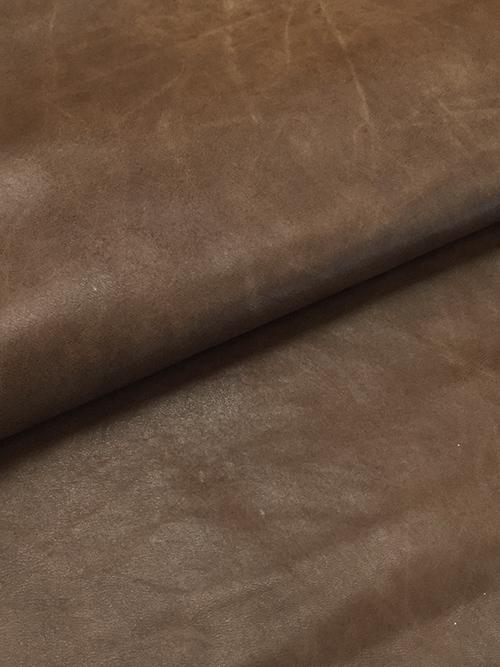 羊革【丸革】ゴールドラメ/アンティーク調/0.7mm/ブラウン [50%OFF]