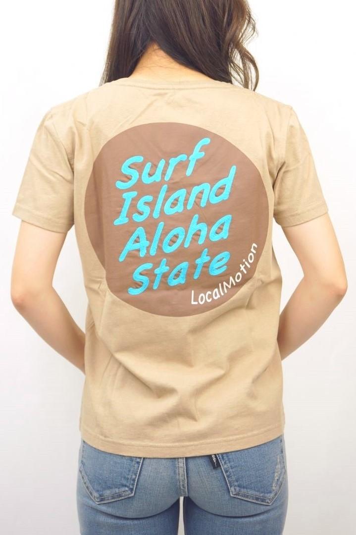 SURF ISLAND PRINT&ENB TEE
