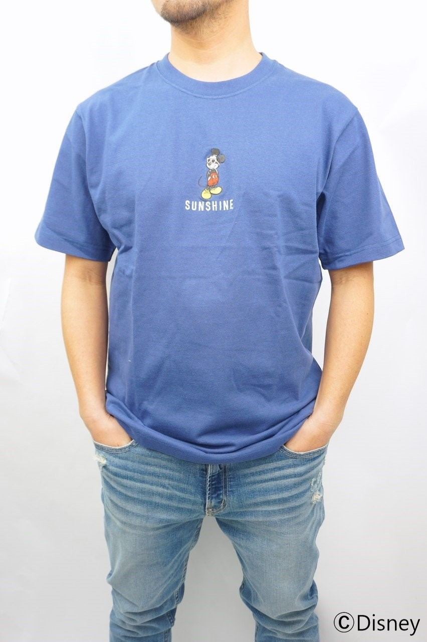 LOCAL MOTION MICKEY MOUSE ALOHA刺繍Tシャツ
