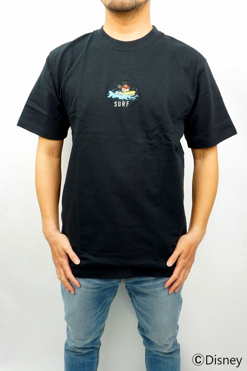 LOCAL MOTION MICKEY MOUSE SURF刺繍Tシャツ