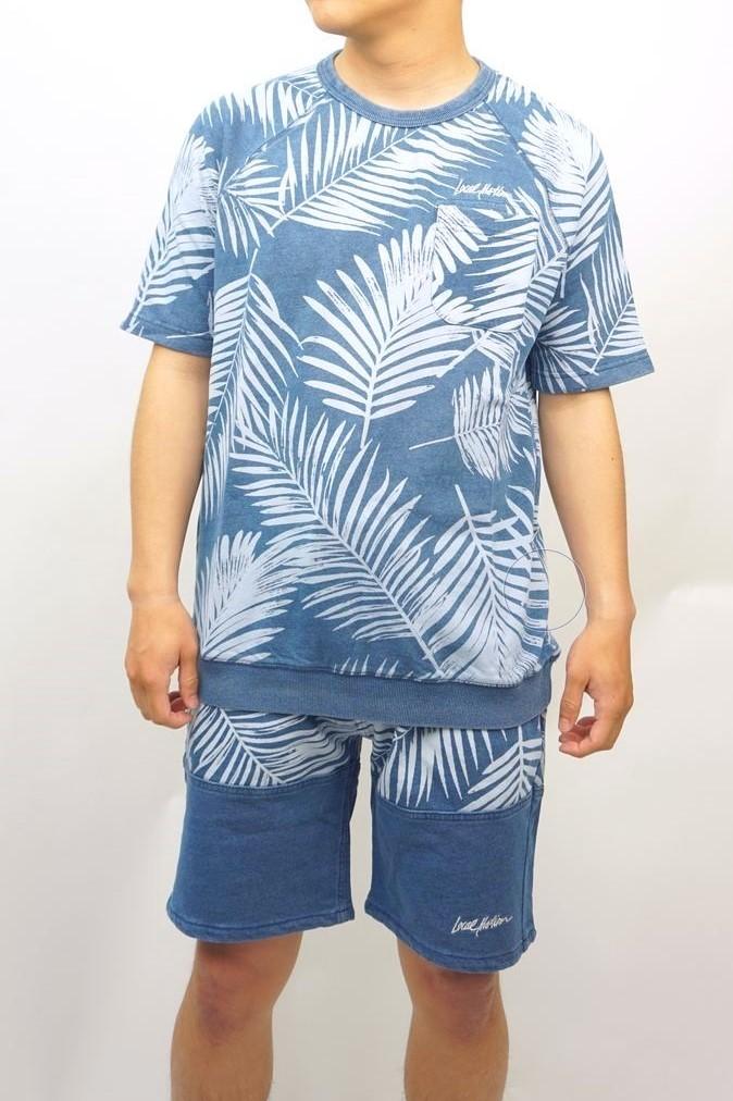 カットデニムトレーナーTシャツ