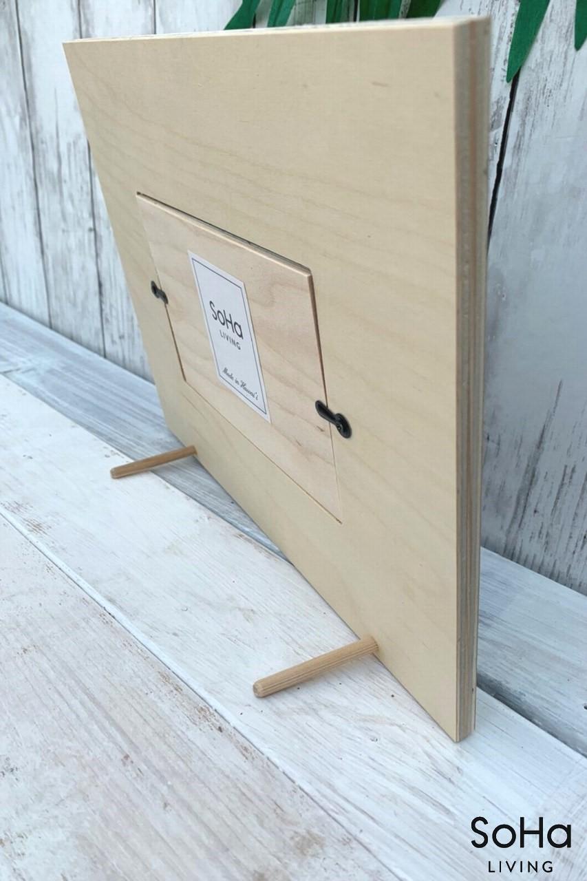 wooden frame Surfboard