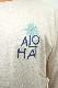 ALOHAチェーン刺繍×プリント ロングスリーブTEE