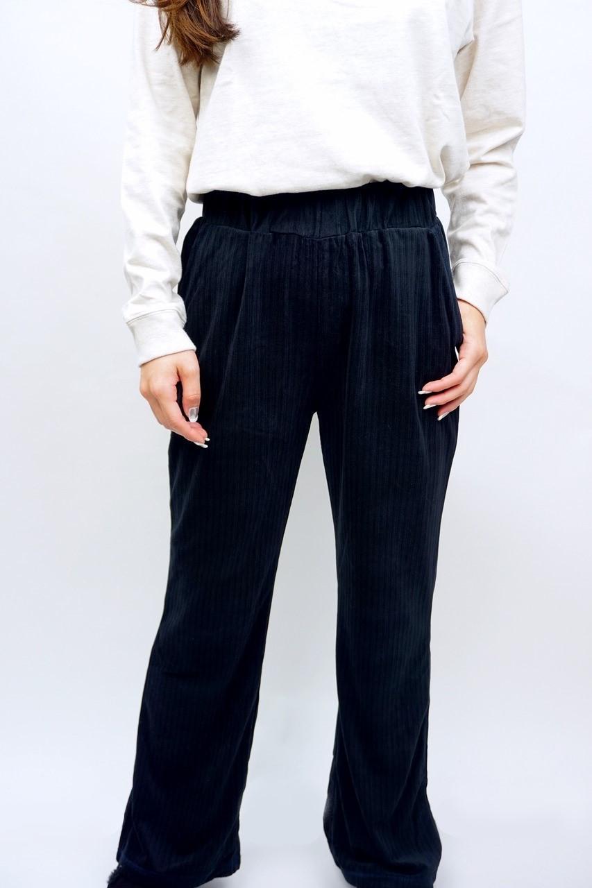 KNIT CORDYROY FLARE PANTS