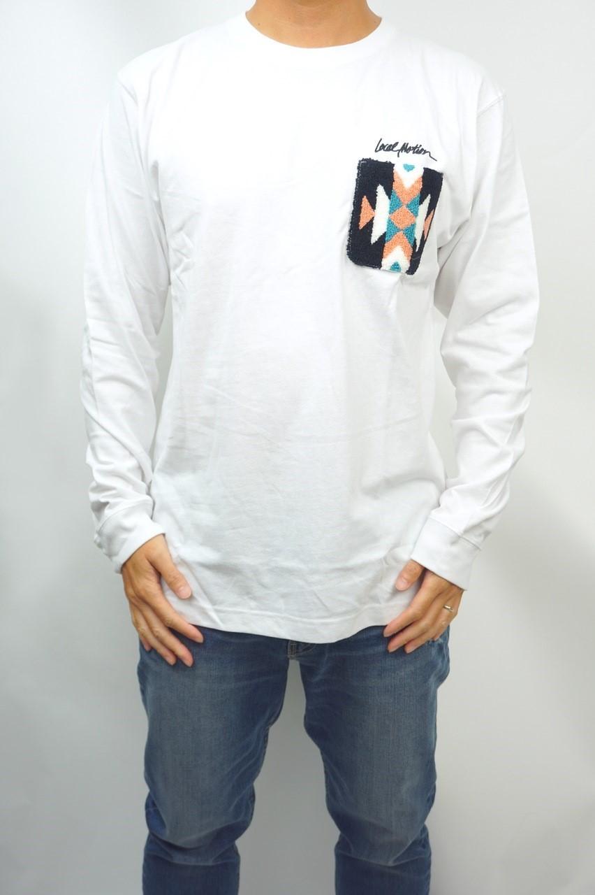 サガラ刺繍ポケットロングスリーブTEE