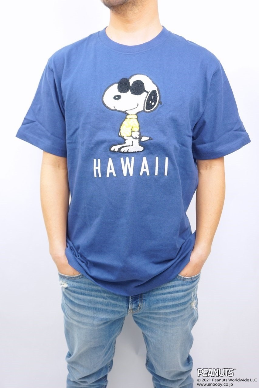 LOCAL MOTION/SNOOPY/HAWAIIサガラ刺繍Tシャツ
