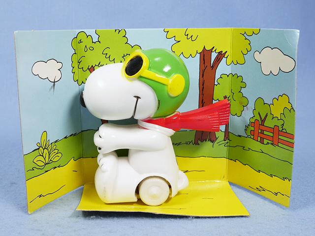 ビンテージ AVIVA  '79  スヌーピー  PEANUTS Motorized Toy  新品箱入 3個セット