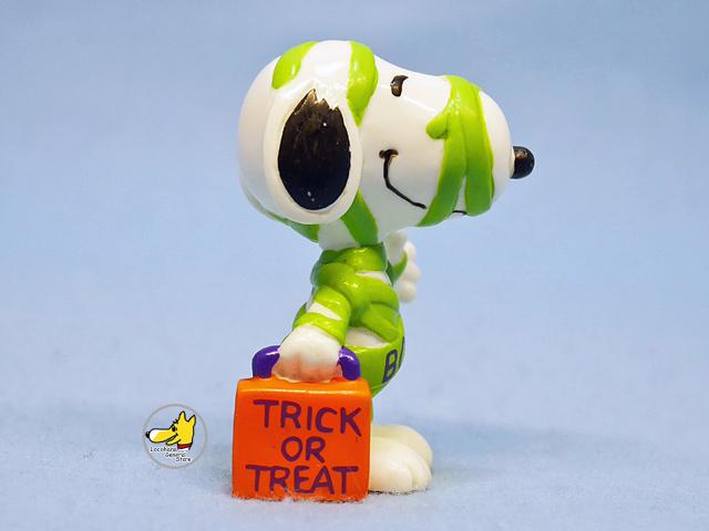 ビンテージ Whitman's '98 スヌーピー PVC フィギュア Halloween ミイラ