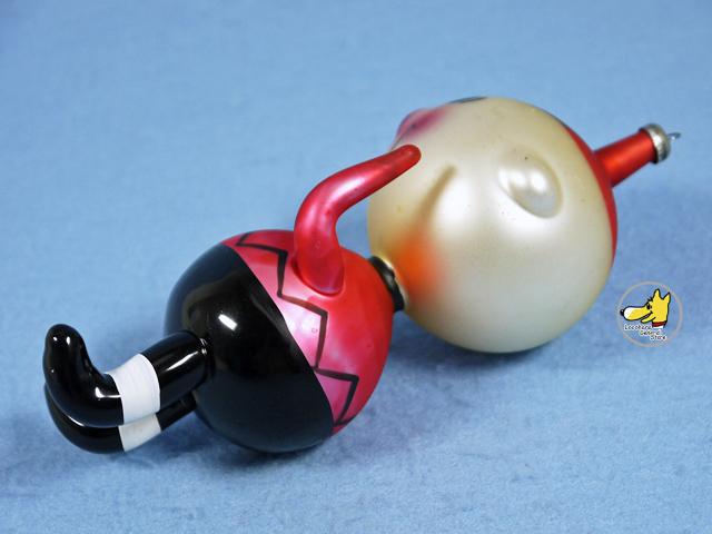 ビンテージ '68 スヌーピー オーナメント Italy Handblown Glass チャーリー