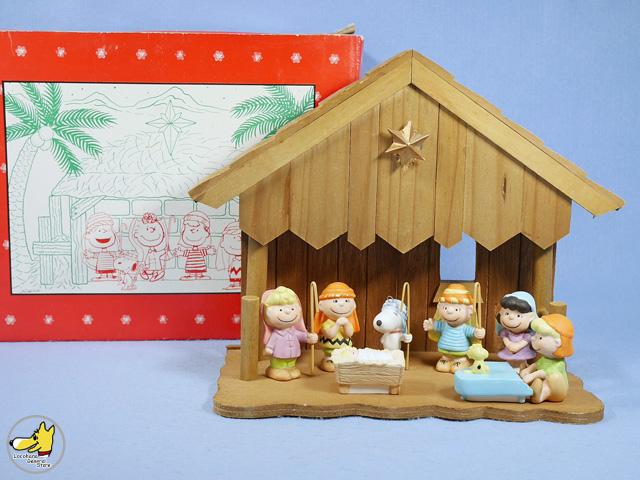 ビンテージ Willitts '90  スヌーピー オルゴール キリスト誕生 箱入