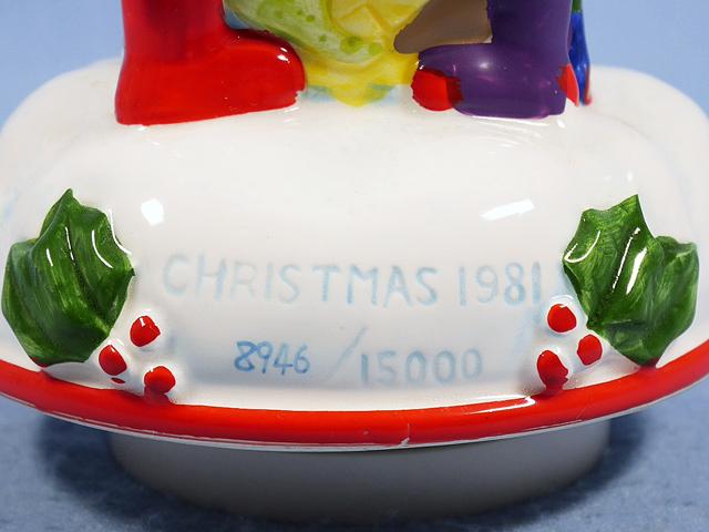 ビンテージ Schmid  '81  スヌーピー  オルゴール  Christmas Wish 箱入