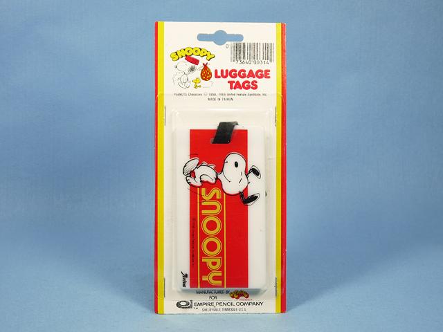 """ビンテージ Aviva  '79  スヌーピー Luggage Tag  荷物札 """" Snoopy """" 新品パッケージ入"""