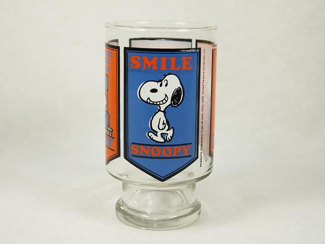 ビンテージ Anchor Hocking 70'スヌーピー Glass Vase
