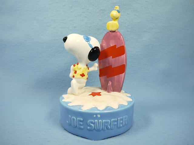【送料無料】ビンテージ Willitts  '89  スヌーピー オルゴール Joe  Surfer