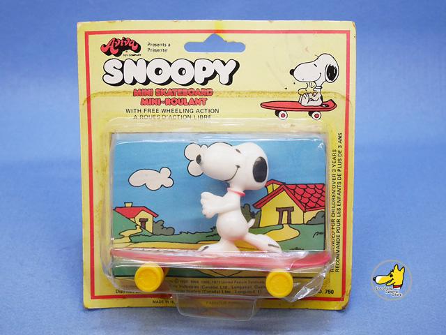 ビンテージ Aviva  '70s  スヌーピー Skateboard Snoopy Skater パッケージ入