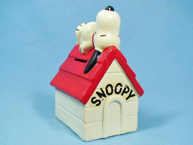 ビンテージ IDEAL  '77  スヌーピー&ウッドストック  ドッグハウス  コインバンク