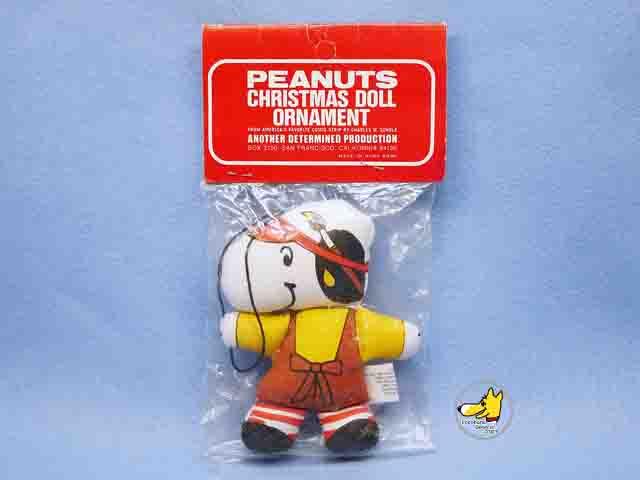 ビンテージ Determined '70s スヌーピー Christmas Doll Ornament スヌーピー 未開封袋入