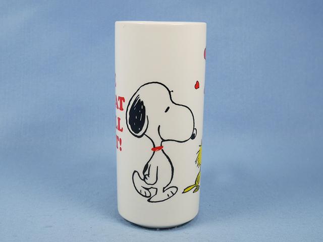 ビンテージ  Determined '70s  スヌーピー  Vase  花瓶 LOVE
