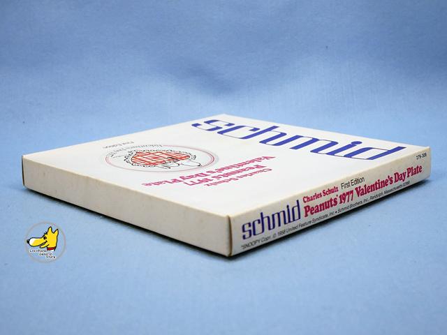 ビンテージ Schmid '77 スヌーピー  Valentine 1977年  Plate 壁掛け 箱付