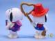 ビンテージ Whitman's  スヌーピー PVC フィギュア Valentine 5個セット �